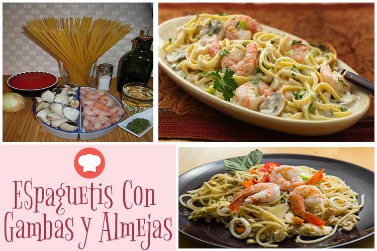 dieta herbalife espaguetis con gambas y almejas